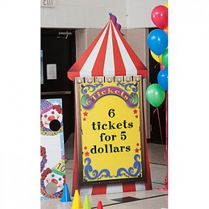 ticket booth stand for circus party