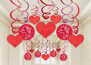 Valentine's Day hearts decor
