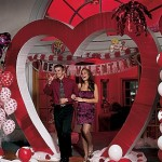 Valentine's Day party heart entrance