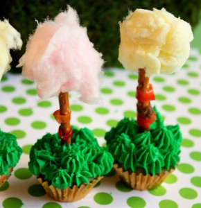 Lorax Party Cupcake trees