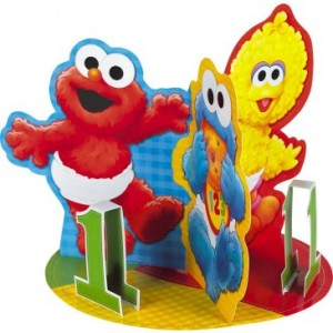 Baby Elmo centerpiece