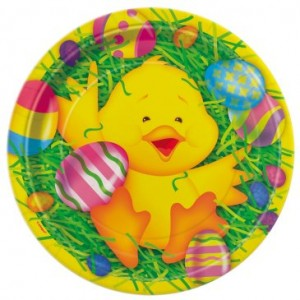 Easter Ducky party plates