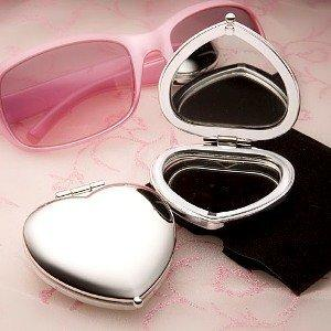 Heart Shaped Compact Mirror Bridal shower Favors