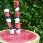 4th of july watermelon fruit sparkler, by http://www.time2saveworkshops.com