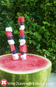 4th of july watermelon fruit sparkler