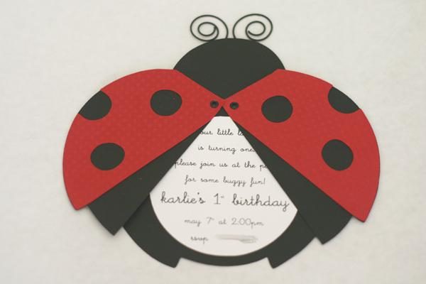Party Roundup Cool Ladybug Party Ideas Themeaparty – Ladybug Party Invitations