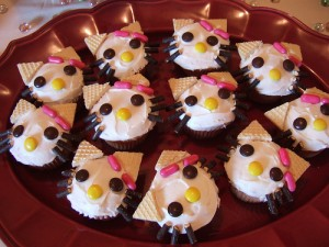 Cat Face Cupcakes