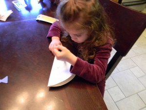 making Easter bunny face craft