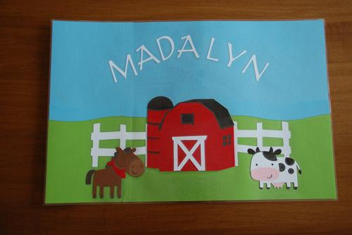 Farm Party Favor Placemat
