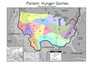 Hunger Games Map of Panem