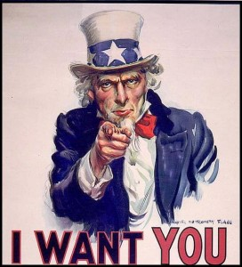 Uncle Sam wants you for my party