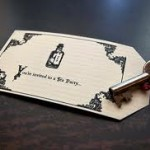 creative alice in wonderland invitation