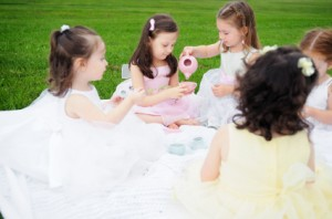 backyard princess tea party
