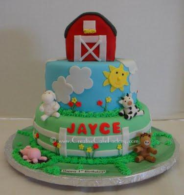 Girls Birthday Cake Ideas on Barnyard Birthday Party Ideas   Themeaparty