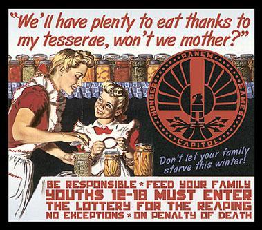 capitol Hunger Games propoganda poster