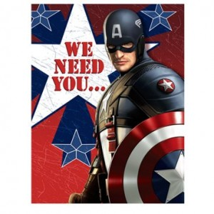 captain america inviations