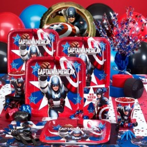 captain america theme party themeaparty. Black Bedroom Furniture Sets. Home Design Ideas
