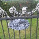 Halloween cemetery gate