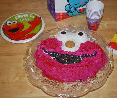 elmo cake finished