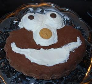 elmo cake nose