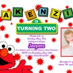 elmo custom invitations