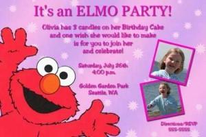 elmo personalized invitations