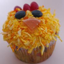 fuzzy chick cupcakes