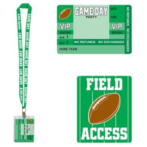 game day Football party passes