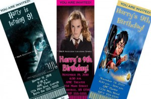 Harry Potter Movie Invitations