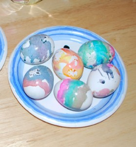 home made easter eggs