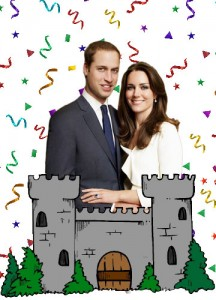 kate and william royal party theme