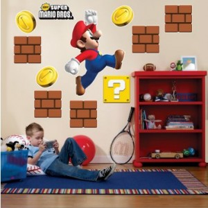 mario bros wall decals