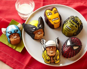 marvel cakelets decorated