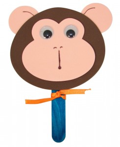 monkey mask craft for a sock monkey party