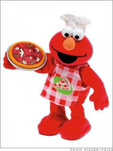 Elmo loves pizza