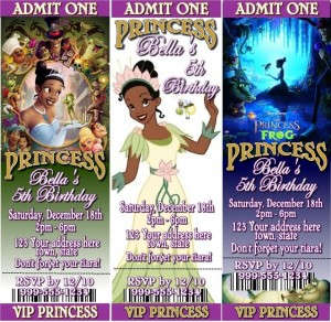 princess and the frog movie ticket
