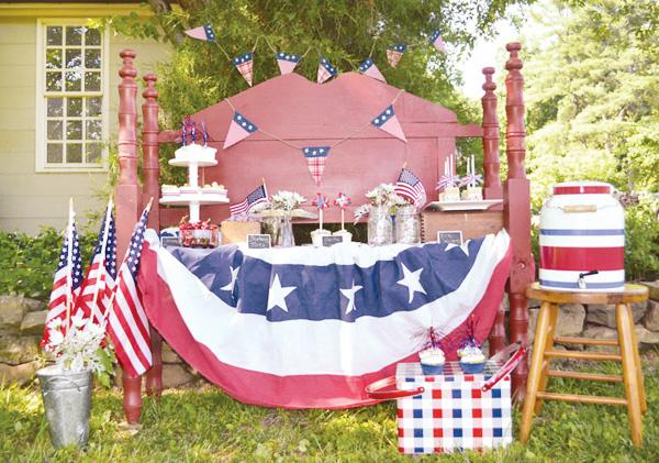 rustic july 4th dessert table