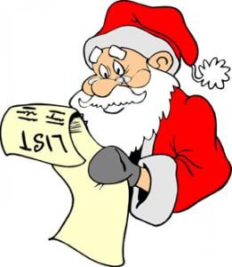 santa checks his list