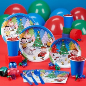 Snoopy Peanuts Christmas party supplies