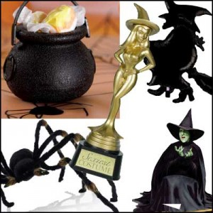Halloween witch party decor