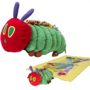 the very hungry caterpillar plush toy and blanket