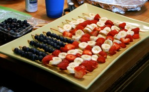 Flag fruit kabobs