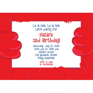 Elmo fuzzy invitation