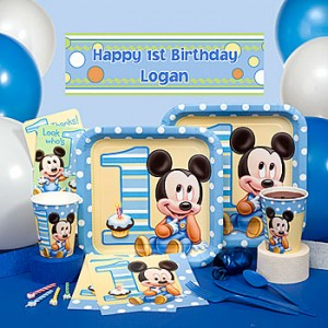 Mickey Mouse 1st birthday party kit