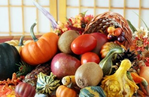 Thanksgiving cornocopia
