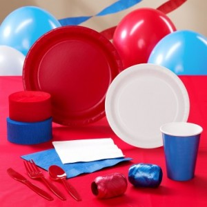 Red White and Blue Party Theme