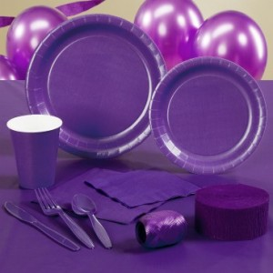 royal purple party supplies