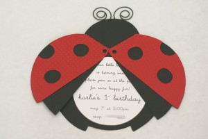 ladybug party invitations