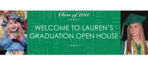 Personalized grad party invite