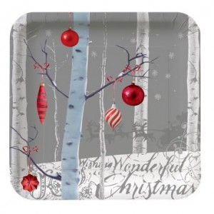 Winter wonderland banquet plates